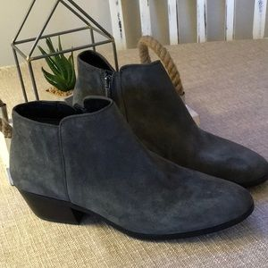 Sam Edelman Petty Gray Suede Ankle Booties 8.5